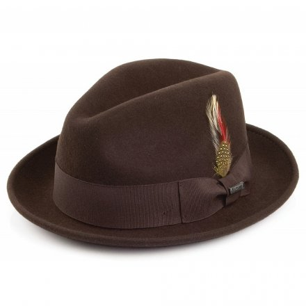 Chapeaux - Crushable Blues Trilby (marron)
