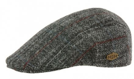 Casquette gavroche/irlandaise - MJM Country Harris Tweed Check (gris)