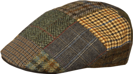 Casquette gavroche/irlandaise - MJM Country Patchwork (marron mix)
