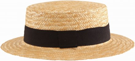 Chapeaux - Gårda Capri Boater Black Band (nature)