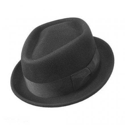 Chapeaux - Diamond Crown Pork Pie Hat (noir)