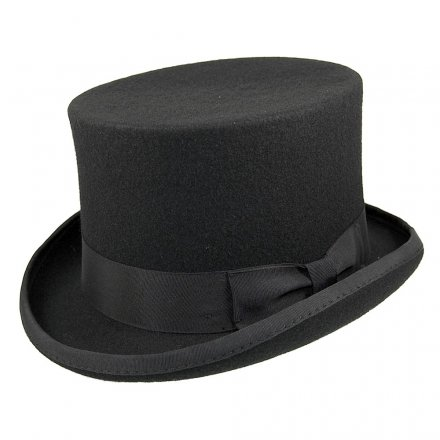 Chapeaux - Mid-Crown Top Hat (noir)