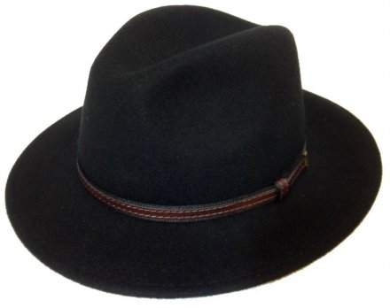 Chapeaux - Faustmann Lavello Pinch Crown (noir)