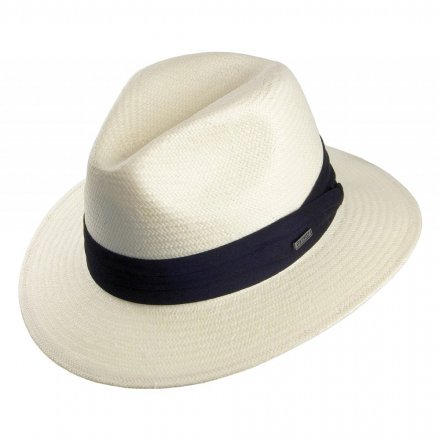 Chapeaux - Toyo Safari Fedora With Black Band (blanc)
