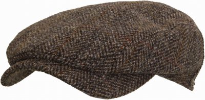Casquette gavroche/irlandaise - Wigéns Ivy Contemporary Harris Tweed (gris)
