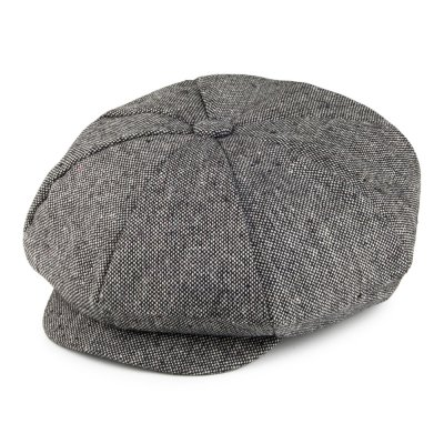 Casquette gavroche/irlandaise - Jaxon Hats Marl Tweed Big Apple Cap (gris)