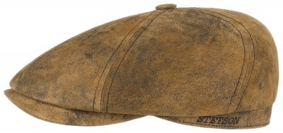 Casquette gavroche/irlandaise - Stetson Brooklin Leather (marron)