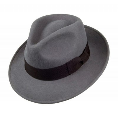 Chapeaux - Crushable C-Crown Fedora (gris)
