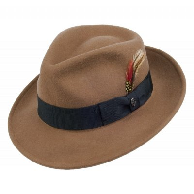 Chapeaux - Crushable C-Crown Fedora (marron clair)