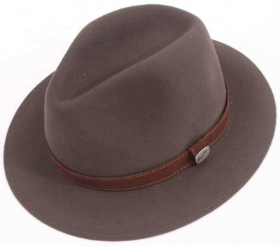 Chapeaux - Borsalino Alessandria Leather Band Fedora (gris)