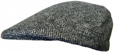 Casquette gavroche/irlandaise - Lawrence and Foster Garforth (gris herringbone)