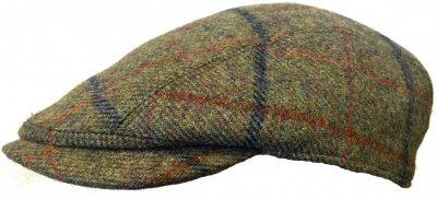 Casquette gavroche/irlandaise - Lawrence and Foster Linton (vert tweed)