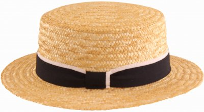 Chapeaux - Gårda Capri Boater Blue/White Band (nature)
