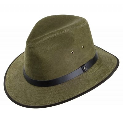Chapeaux - Nubuck Leather Safari Fedora (olive)