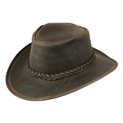 Chapeaux - Jaxon Hats Crushable Leather Outback (marron)