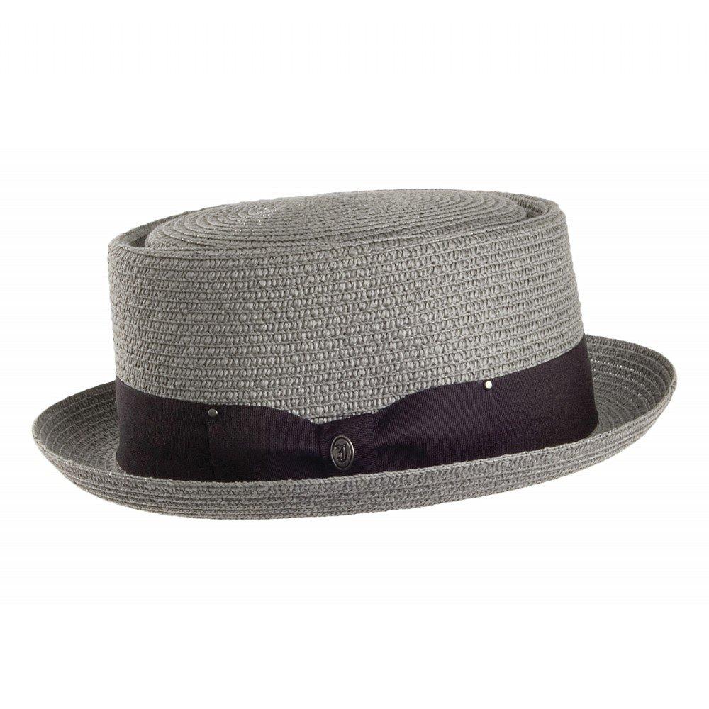 chapeaux toyo braided pork pie gris chapeaux pour homme. Black Bedroom Furniture Sets. Home Design Ideas