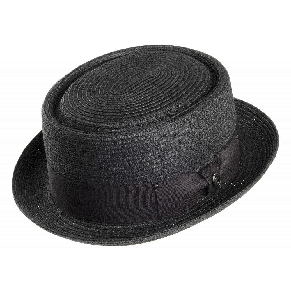 chapeaux toyo braided pork pie noir chapeaux pour femme. Black Bedroom Furniture Sets. Home Design Ideas